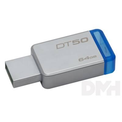 Kingston 64GB USB3.0 Ezüst-Kék (DT50/64GB) Flash Drive