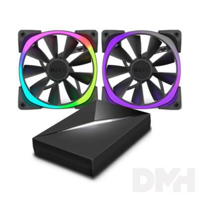NZXT AER RGB Starter Pack HUE+/ 2db 140mm Fekete ház hűtő