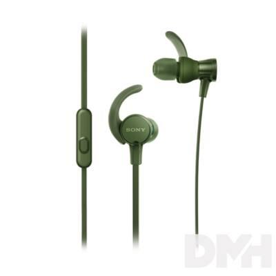 SONY MDRXB510ASG.CE7 sport zöld fülhallgató