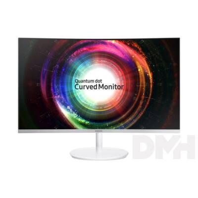 "Samsung 27"" C27H711QEU QLED WQHD HDMI Mini-Display port ívelt kijelzős fehér-ezüst monitor"