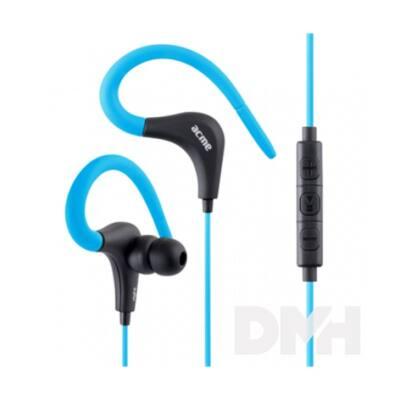 Acme HE17B kék Sport fülhallgató mikrofonnal és vezérlővel