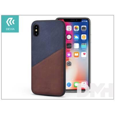 Devia ST305801 IWALLET iPhone X kék hátlap
