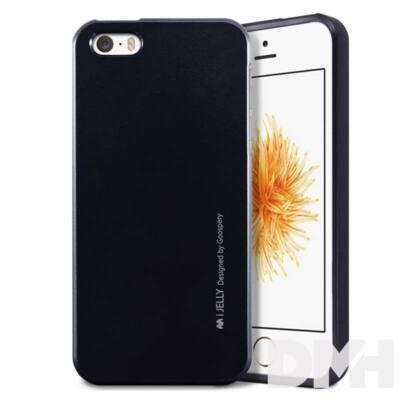 Mercury IJELLYIP5 iJelly iPhone SE fekete TPU hátlap