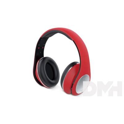 Genius HS-935BT összehajtható piros mikrofonos  bluetooth fejhallgató