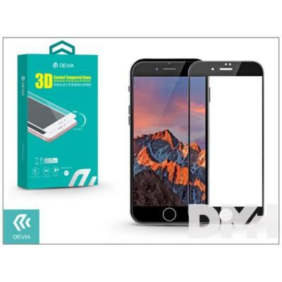 Devia ST994532 iPhone 7+ 3D fekete hajlított üveg képernyő + Crystal hátlapvédő fólia