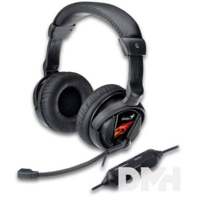 Genius HS-G500V jack fekete gamer headset