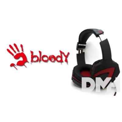 A4-Tech Bloody G501 fekete-piros USB 7.1 gamer headset
