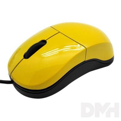 Sbox M-900Y USB citromsárga egér