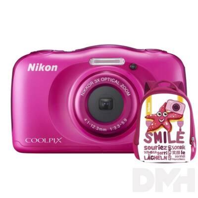 Nikon Coolpix W100 Rózsaszín digitális fényképezőgép hátizsák kit