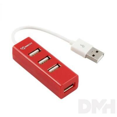 Sbox H-204R 4 portos piros USB HUB