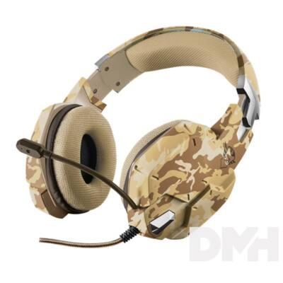 Trust GXT 322D Carus sivatag álcafestéses gamer headset