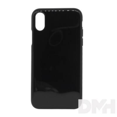 Cellect TPU-IPHX-BK iPhone X átlátszó fekete vékony szilikon hátlap