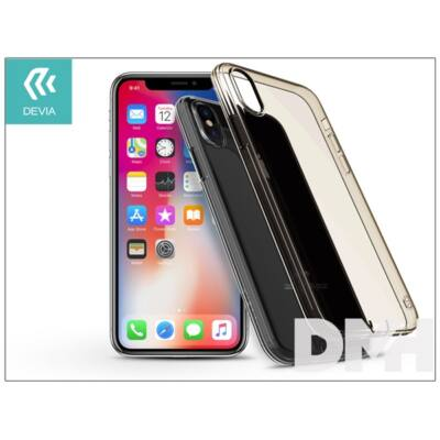 Devia ST300806 ANTI SHOCK iPhone X átlátszó tea szilikon hátlap