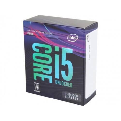 Intel Core i5 3,60GHz LGA1151 9MB (i5-8600K) box processzor