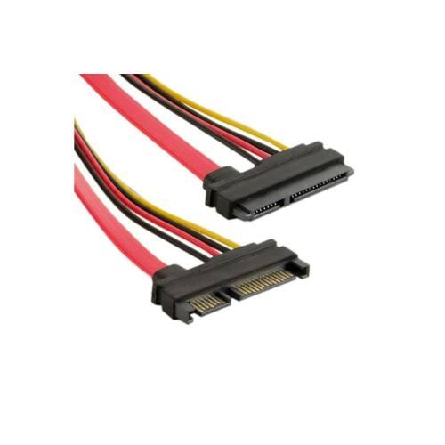 4World HDD Cable | 29pin SAS (F) - 7pin SATA (F) & LP4 | 45cm | piros
