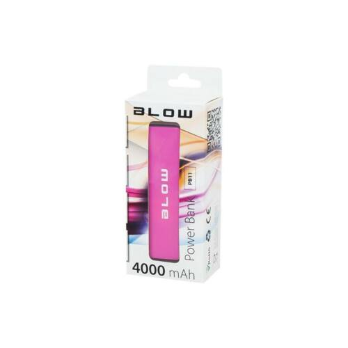 Power Bank 4000mAh 1xUSB PB11 rózsaszín
