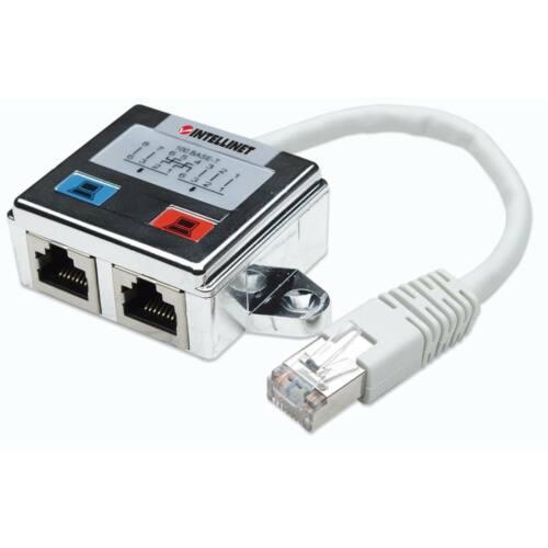 Intellinet hálózati elágozó adapter RJ45x2 STP