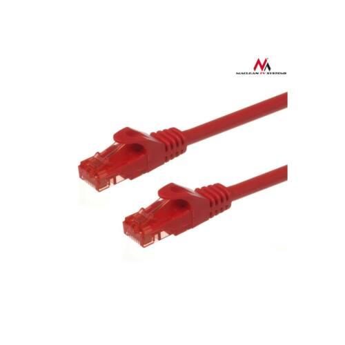 Maclean MCTV-303R Patchcord UTP cat6 Cable plug-plug 3m red