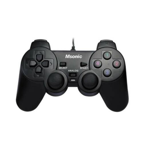 MSONIC USB PC/PS3, vibrációs gamepad MN3329BK