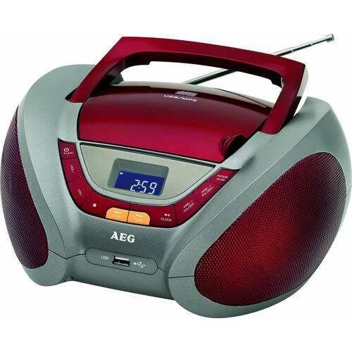 AEG SR4358 CD/MP3 rádió PIROS, audió bemenet - Bontott