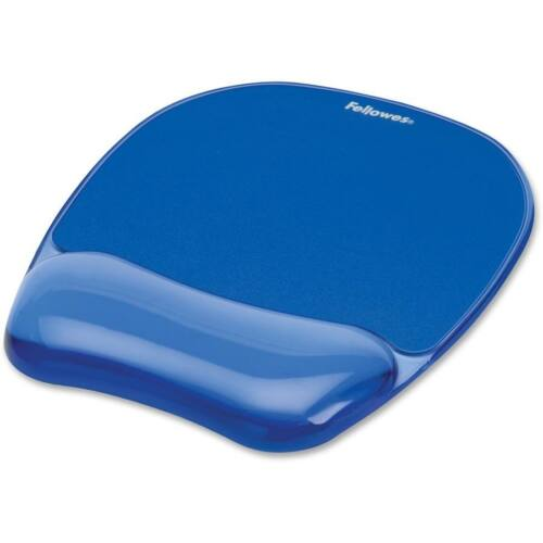 Fellowes wrist gel pad CRYSTAL, blue