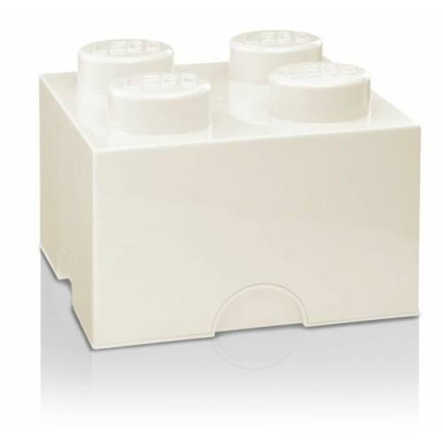 LEGO Storeage Brick 4 - Fehér (40031735) tároló blokk