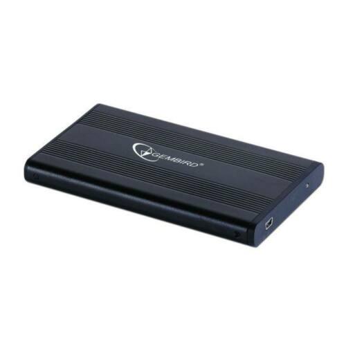 Gembird külső USB 2.0 ház 2.5'' SATA HDD-re/SSD, alumínium, fekete
