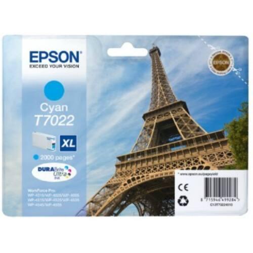 Epson T702 cyan XL tintapatron  2000old   WP4000/4500