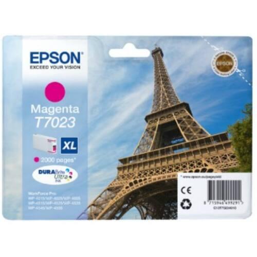 Epson T702 magenta XL tintapatron | 2000old | WP4000/4500