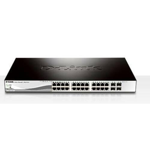 D-Link 24 PoE 10/100/1000 Base-T port + 4 x 1000Base-T/SFP ports, PoE max 193W