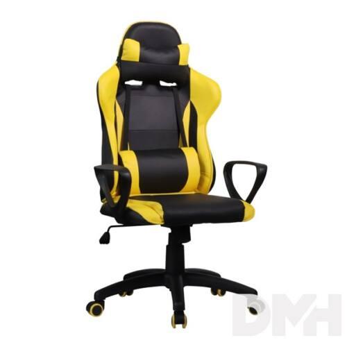 Iris GCH207BC fekete / citromsárga gyerek gamer szék