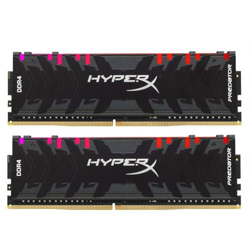 Kingston DDR4 32GB (2x16GB) HyperX Predator RGB DIMM 3000MHz CL15 fekete