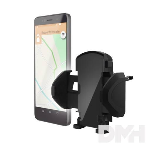 """Hama 178250 """"ESSENTIAL"""" 4,5-9 cm szellőzőre rögzíthető fekete autós telefon tartó"""