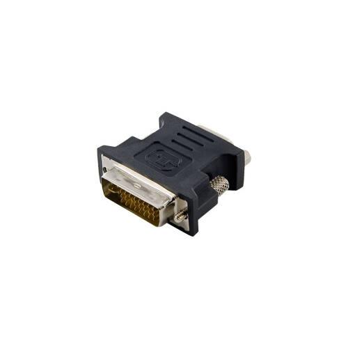 4World Adapter DVI-I [M] (24+5) > VGA [F], fekete