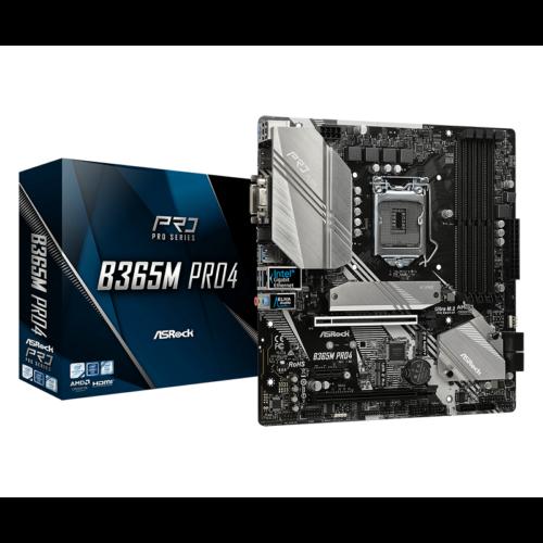 ASRock B365M PRO4, 1151, DDR4 2666, 6 SATA3, HDMI, DVI-D, D-Sub, USB 3.1