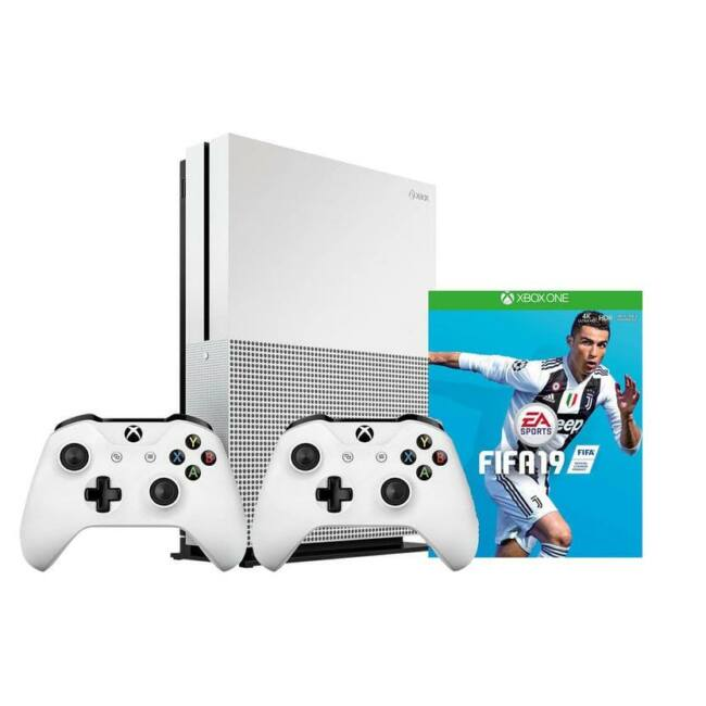 Xbox One S 1TB + FIFA 19 + 2nd controller