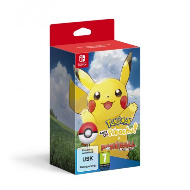 SWITCH Pokémon Let's Go Pikachu! + Poké Ball Plus