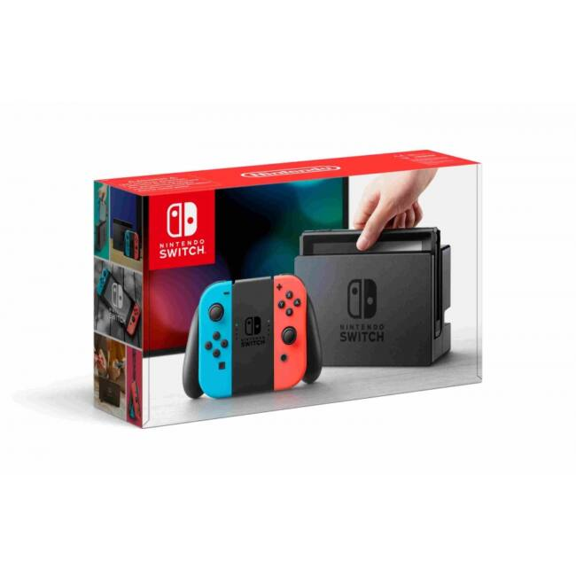 Nintendo Switch játékkonzol neon red&blue Joy-Con