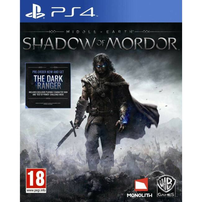 Middle Earth Shadow of Mordor PS4 játékszoftver