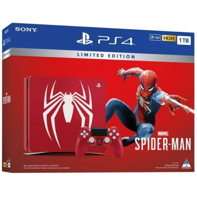 Sony Playstation 4 1TB Slim + Spider-Man LIMITED EDITION