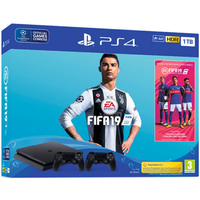 Sony Playstation 4 Slim 1TB + Fifa 19 + 2nd controller