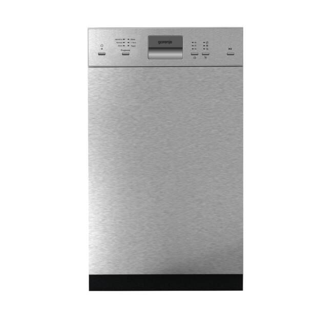 Gorenje GI51010X SmartFlex mosogatógép - kezelőpaneles 45cm széles, 9 terítéskes 2 kosár, A++, 6 pro