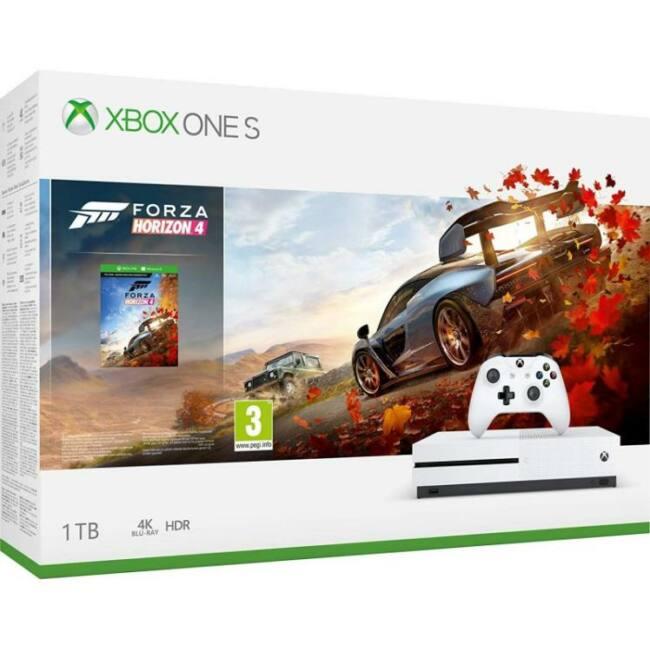 Microsoft Xbox One S (Slim) 1TB + Forza Horizon 4 Játékkonzol