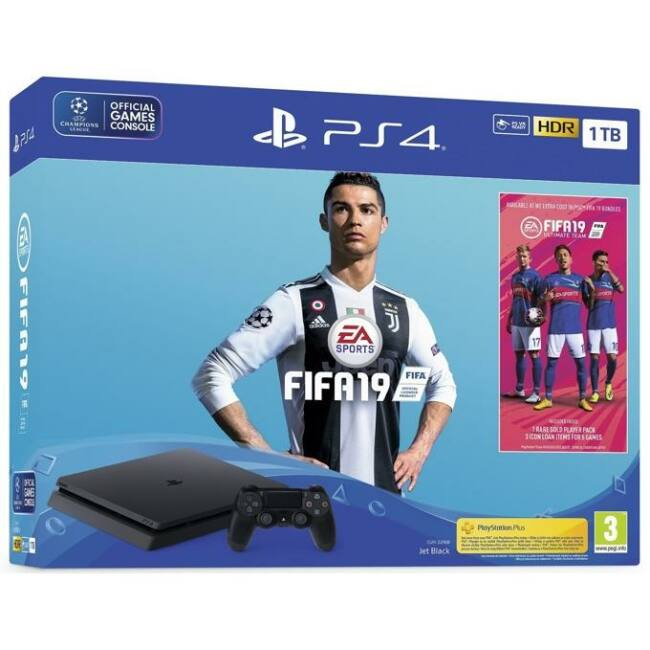 Sony PlayStation 4 Slim 1TB (PS4 Slim 1TB) + FIFA 19 Játékkonzol