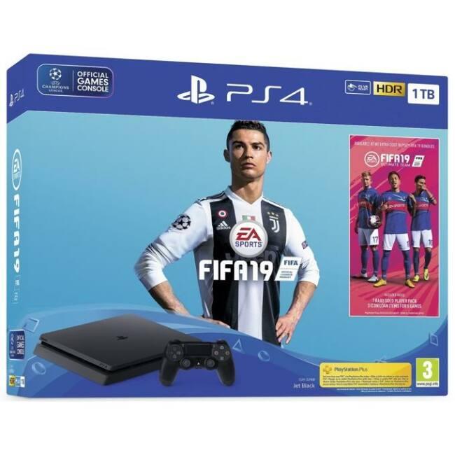 Sony PlayStation 4 Slim 1TB (PS4 Slim 1TB) + FIFA 19 Játékkonzol