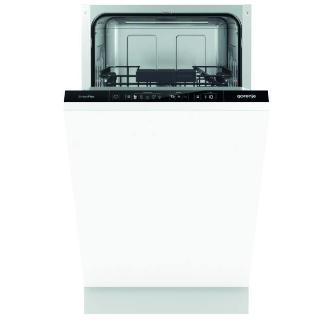 Gorenje GV54110 SmartFlex mosogatógép - teljesen integrált 45cm széles, 9 teríték – 2 kosár, A++, 5