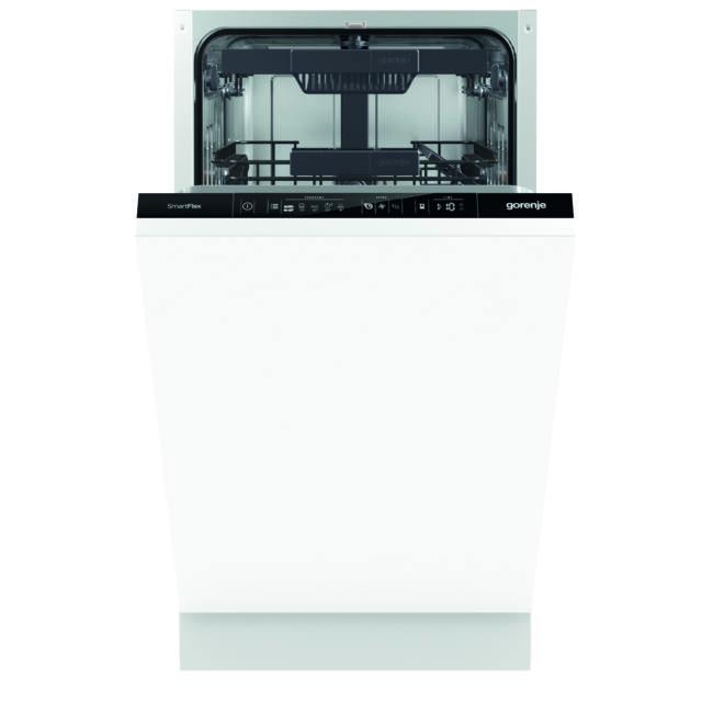 Gorenje GV55110 SmartFlex mosogatógép - teljesen integrált 45cm széles, 10 teríték 3 kosár, A++, 5 p
