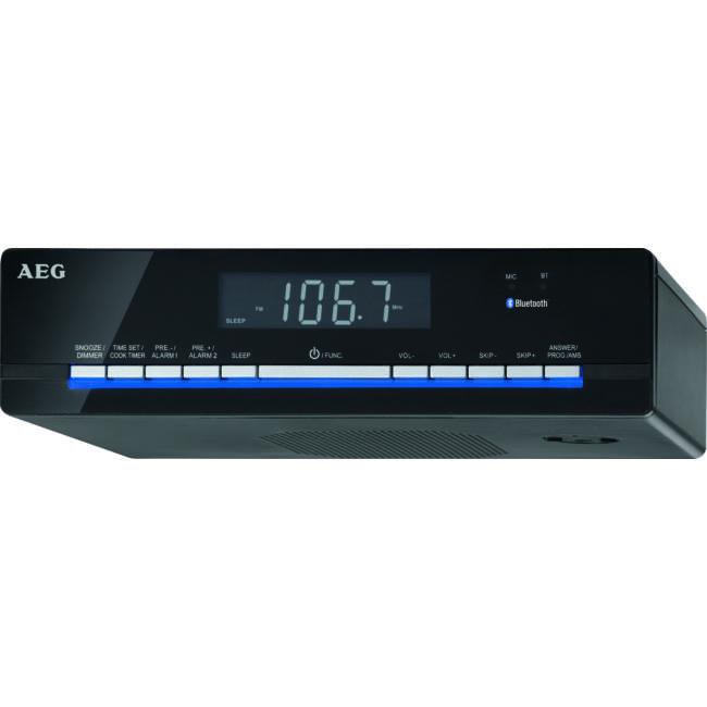 AEG KRC4361 Bluetooth falra szerelhető konyhai rádió, LCD kijelző, 30 programozható állomás