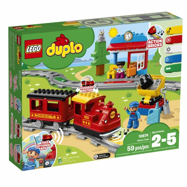 LEGO Duplo Gőzmozdonyos vonatkészlet 10874