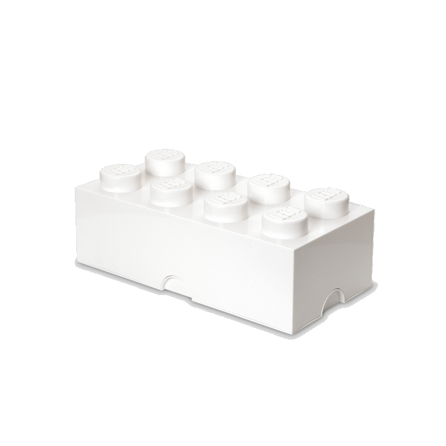 LEGO Storeage Brick 8 - Fehér (40041735) tároló blokk